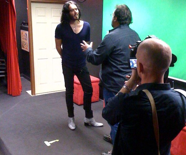 gary spatz and russell brand at the playground acting school